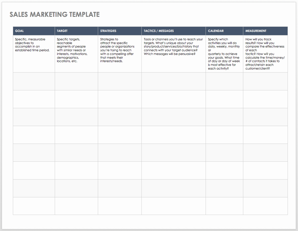 Sales Plan Template Excel Beautiful Free Sales Pipeline Templates