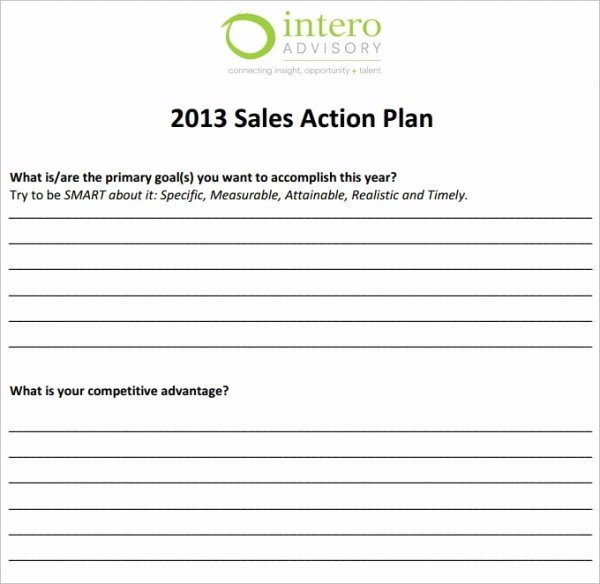Sales Plan Template Excel Inspirational 27 Sales Action Plan Templates Doc Pdf Ppt