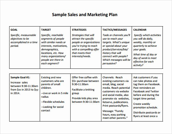 Sales Plan Template Excel Inspirational Free Sales Plan Templates Free Printables Word Excel