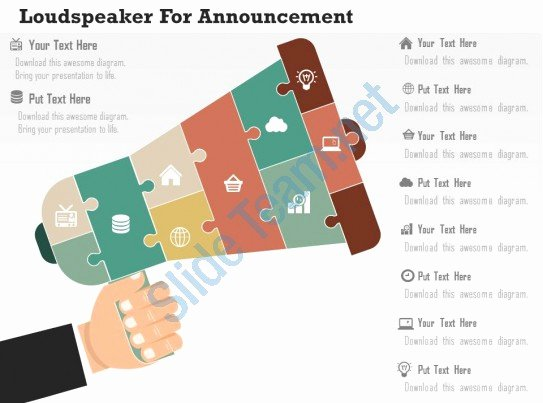 Sales Plan Template Ppt Fresh Loudspeaker for Announcement Flat Powerpoint Design