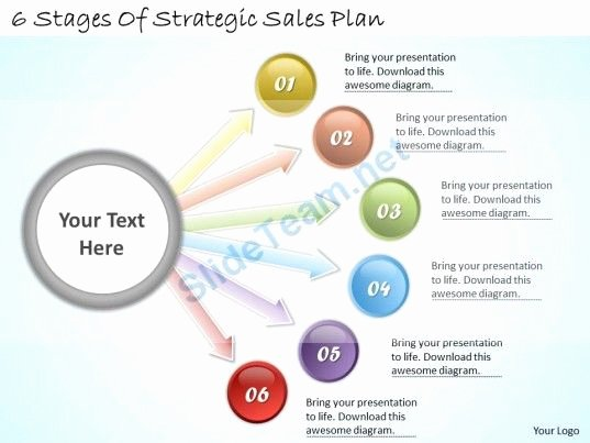 Sales Plan Template Ppt Luxury 1113 Business Ppt Diagram 6 Stages Of Strategic Sales Plan