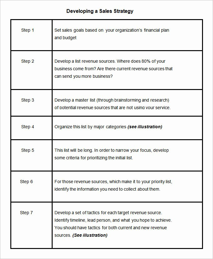 Sales Plan Template Word Awesome 13 Sales Strategy Template Doc Excel Pdf