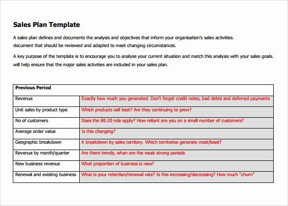 Sales Plan Template Word Elegant 29 Sales Plan Templates Pdf Rtf Ppt Word Excel