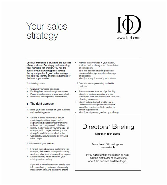 Sales Plan Template Word Fresh Sales and Marketing Plan Templates 19 Word Excel Pdf