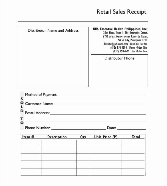 Sales Receipt Template Excel Beautiful 28 Sales Receipt Templates Doc Excel Pdf