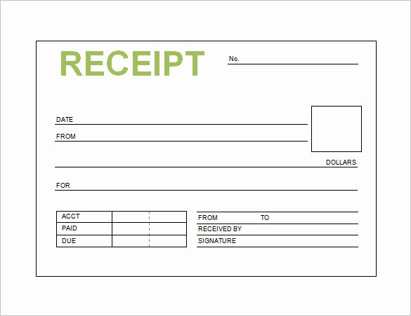 Sales Receipt Template Excel Lovely Free Receipt Printable Template for Excel Pdf formats