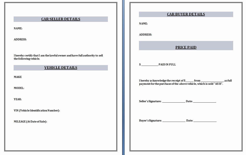 Sales Receipt Template Excel New Car Sales Invoice Template Invoice Template Ideas