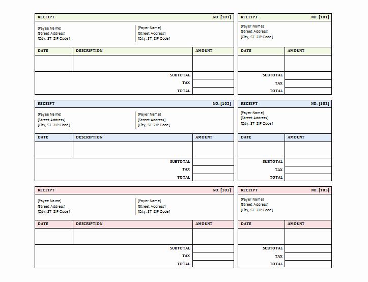 Sales Receipt Template Excel Unique 12 Free Sales Receipt Templates Word Excel Pdf