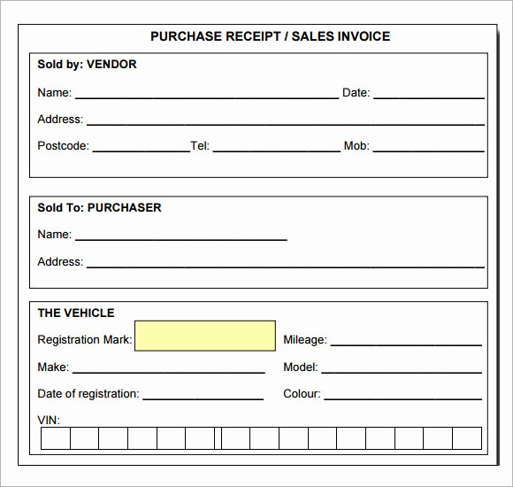 Sales Receipt Template Pdf Awesome 7 Sample Receipt Templates to Download