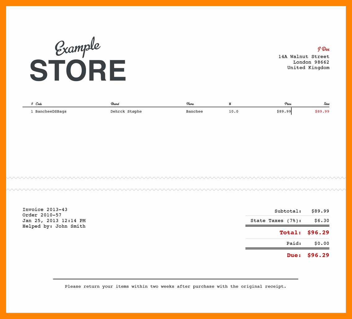 Sales Receipt Template Pdf Elegant 11 Electronic Receipts Template