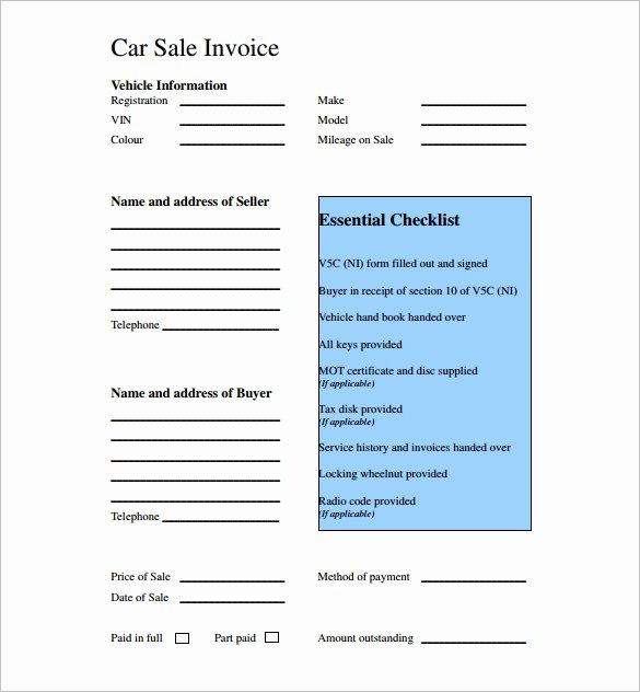 Sales Receipt Template Pdf New 14 Car Sale Receipt Templates Doc Pdf