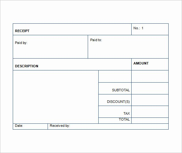 Sales Receipt Template Pdf New Sales Receipt Template 22 Free Word Excel Pdf format