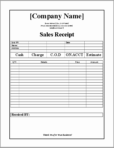Sales Receipt Template Word Best Of 7 Free Sales Receipt Templates Word Templates