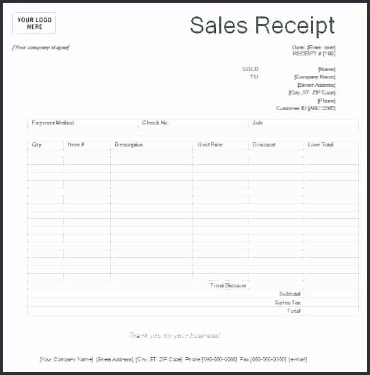 Sales Receipt Template Word Elegant Printable Sales Invoice Template Five Mon