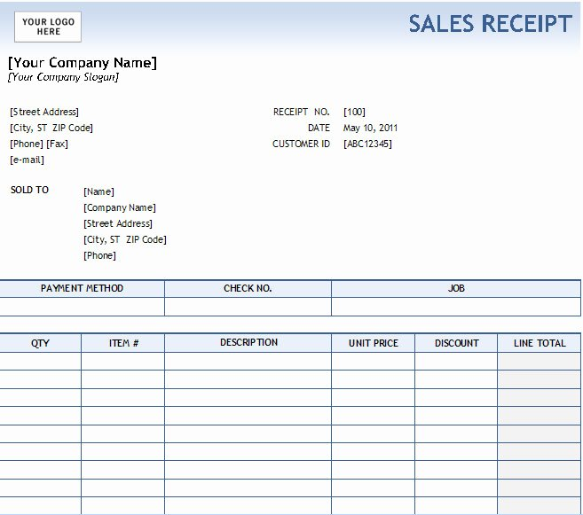 Sales Receipt Template Word Inspirational 17 Sales Receipt Templates Excel Pdf formats