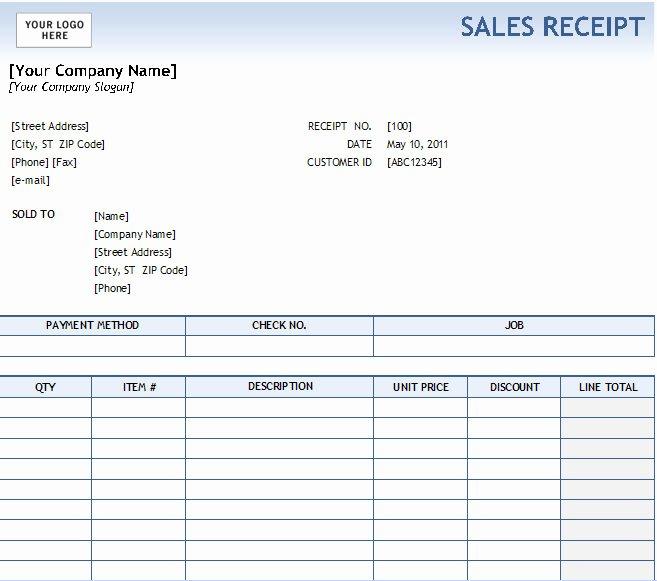 Sales Receipt Template Word Inspirational 17 Sales Receipt Templates Excel Pdf formats