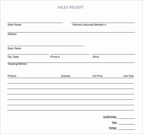 Sales Receipt Template Word Lovely 8 Sales Receipt Templates Word Excel Pdf formats