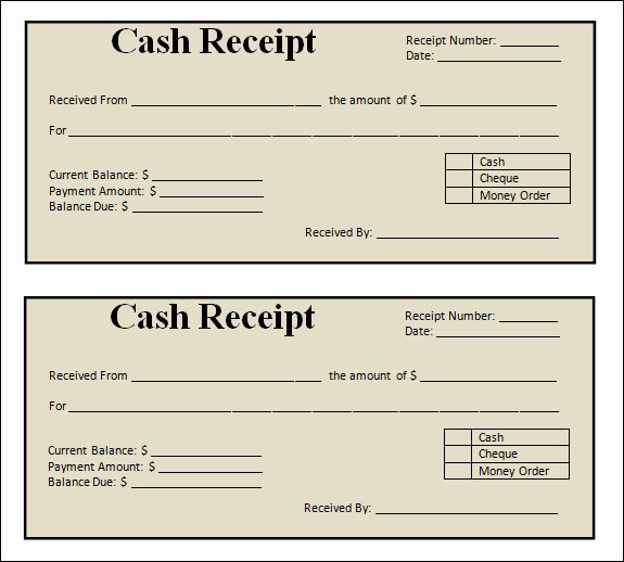 Sales Receipt Template Word New 13 Blank Receipt Template