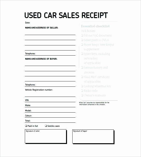 Sales Receipt Vs Invoice Beautiful Vehicle Invoice Templates