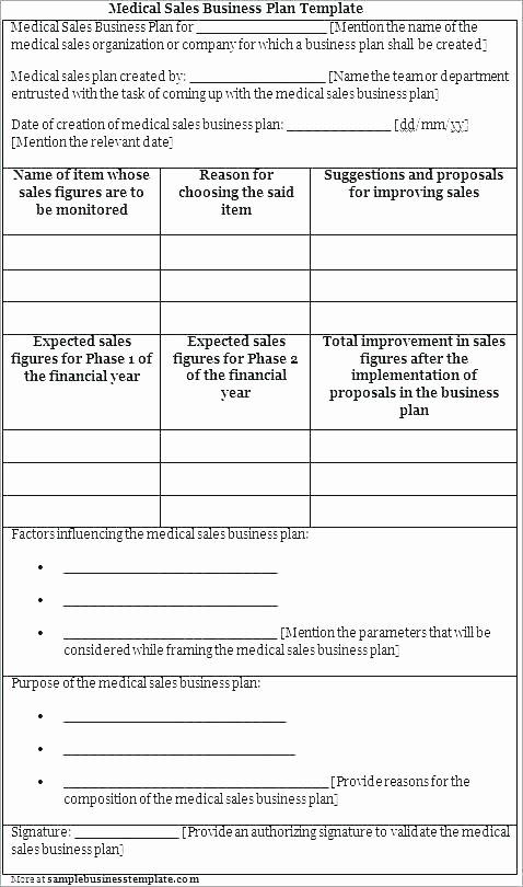 Sales Rep Business Plan Template Beautiful Medical Business Plan Template Free Sales Rep Business