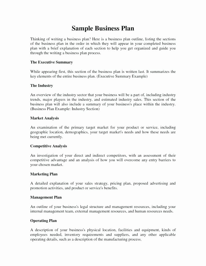 Salon Business Plan Template Beautiful the Executive Summary Section Of the Business Plan