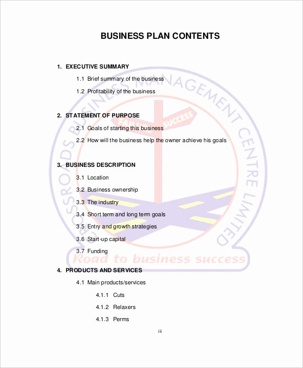 Salon Business Plan Template New Spa & Salon Business Plan Template 10 Free Sample
