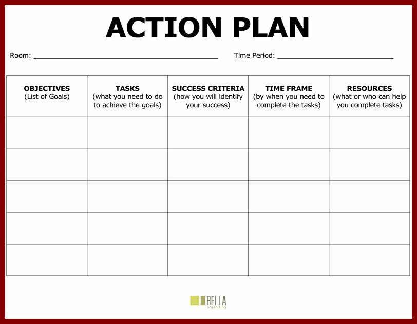 Sample Action Plan Template Awesome Plan Action Template