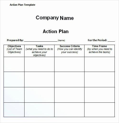Sample Action Plan Template Unique 27 Plan Templates