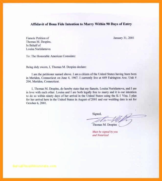 Sample Affidavit Of Support Letter Best Of 11 12 Affidavit Of Support Example Letters