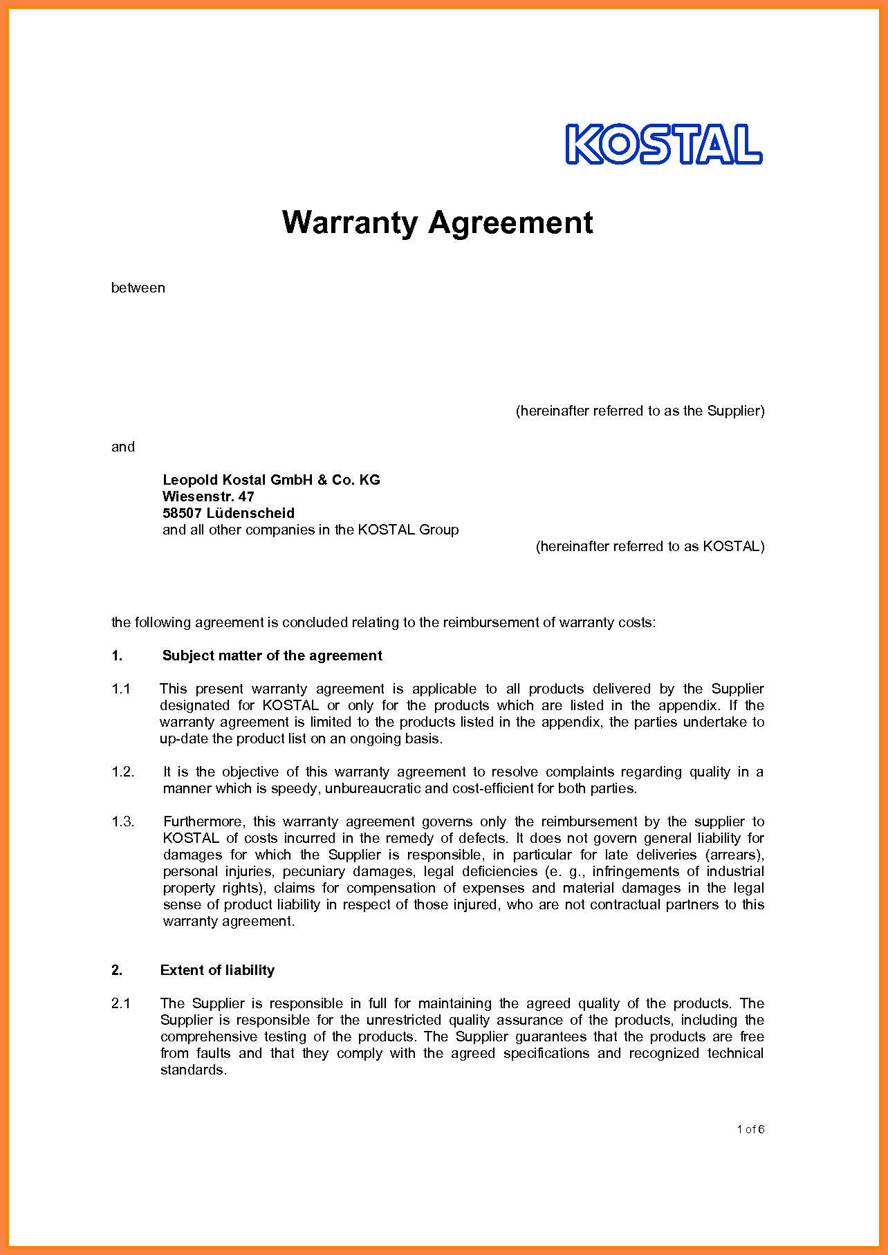 Sample Agreement Letter Between Two Parties Awesome 6 Contract Agreement Between Two Parties Template
