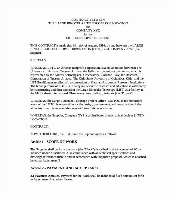 Sample Agreement Letter Between Two Parties New 52 Contract Agreement Templates