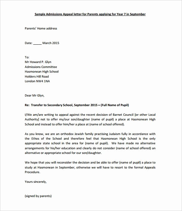 Sample Appeal Letter format Best Of 17 Appeal Letter Templates Free Sample Example format