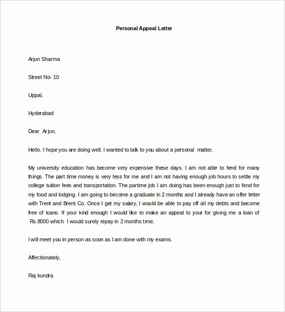 Sample Appeal Letter format Best Of 44 Personal Letter Templates Pdf Doc