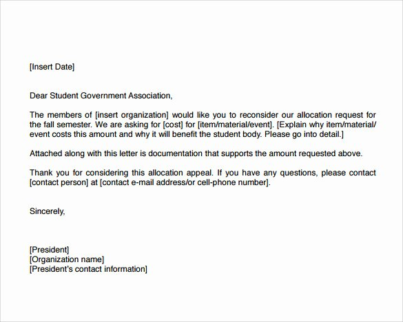 Sample Appeal Letter format Best Of 8 Example Of Appeal Letter Templates to Download for Free