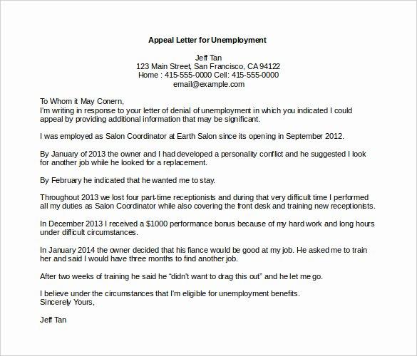 Sample Appeal Letter format Fresh 18 Appeal Letter Templates Pdf Doc