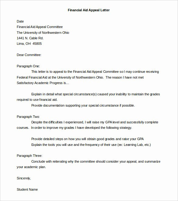 Sample Appeal Letter format Luxury 18 Appeal Letter Templates Pdf Doc