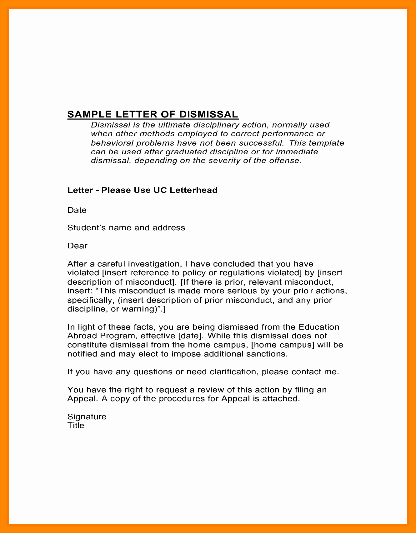 Sample Appeal Letter format New 10 Academic Suspension Appeal Letter Sample