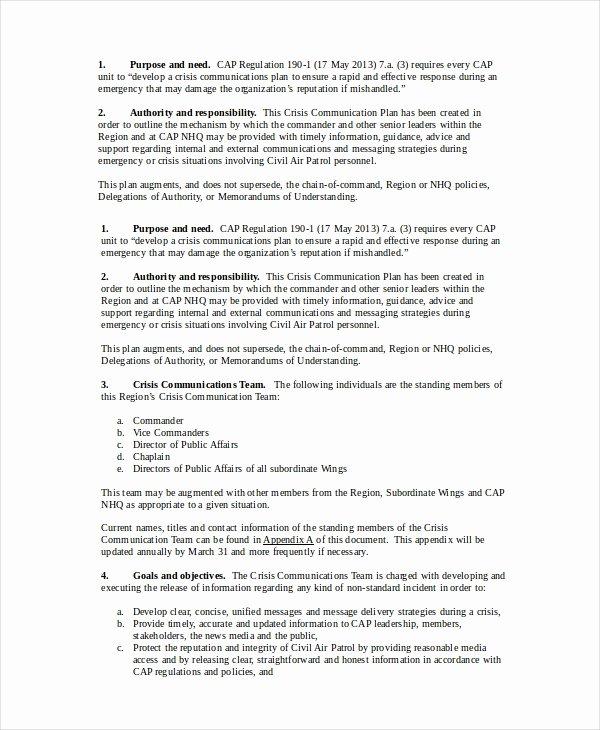 Sample Communication Plan Template Beautiful Munication Plan 11 Pdf Word Documents Download
