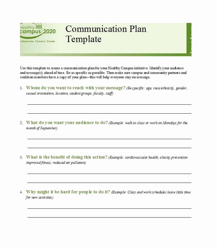 Sample Communication Plan Template Elegant 37 Simple Munication Plan Examples Free Templates