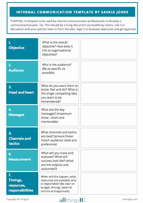 Sample Communication Plan Template Inspirational Free Internal Ms Plan Template