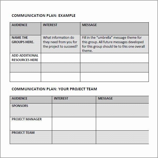 Sample Communication Plan Template Lovely 16 Samples Of Munication Plan Templates Pdf Word