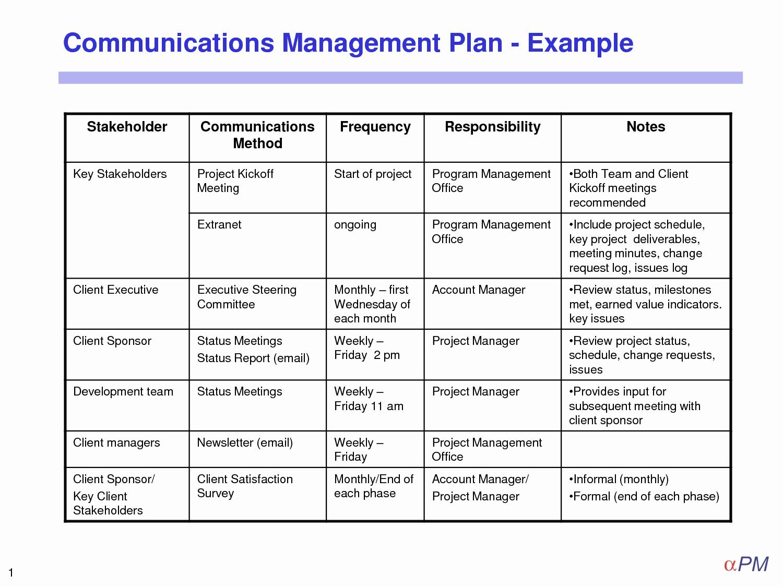 Sample Communication Plan Template Lovely Munication Plan Template