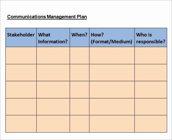 Sample Communication Plan Template New 16 Samples Of Munication Plan Templates Pdf Word