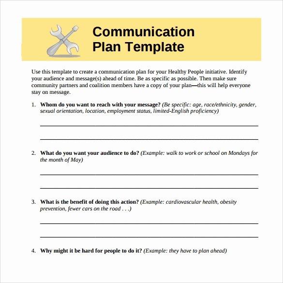 Sample Communication Plan Template Unique 8 Sample Munication Plans