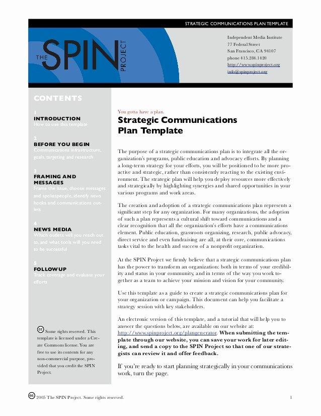 Sample Communications Plan Template Elegant Munication Strategy Template