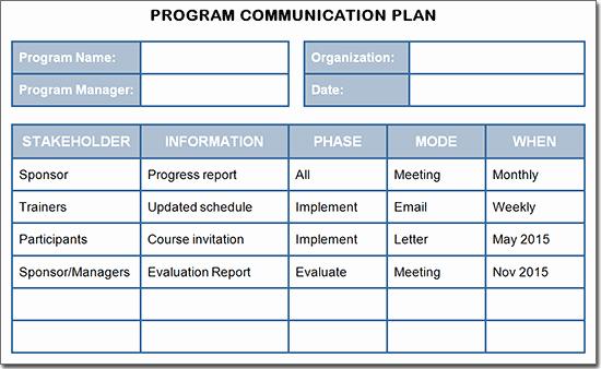 Sample Communications Plan Template Luxury Creating A Training Program Munication Plan