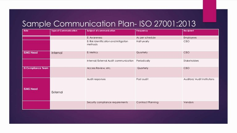 Sample Communications Plan Template Luxury Sample Munication Plan iso