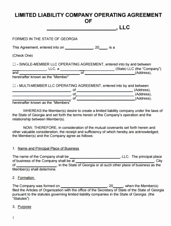 Sample Cottage Llc Operating Agreement Awesome Llc Articles organization Template