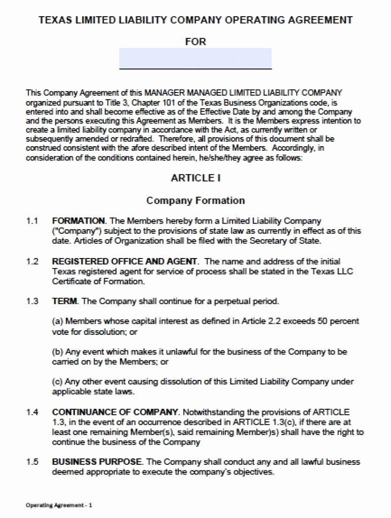 Sample Cottage Llc Operating Agreement Inspirational Download Texas Llc Operating Agreement Template Llc