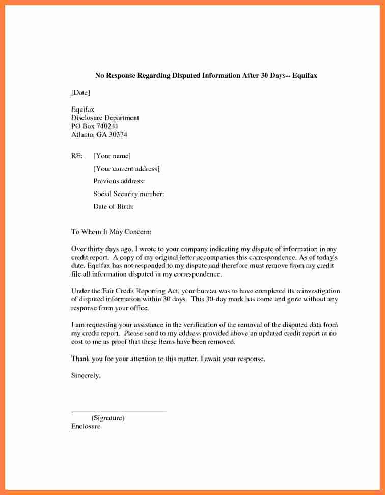 Sample Credit Repair Letter Awesome 5 Credit Report Dispute Letter Template